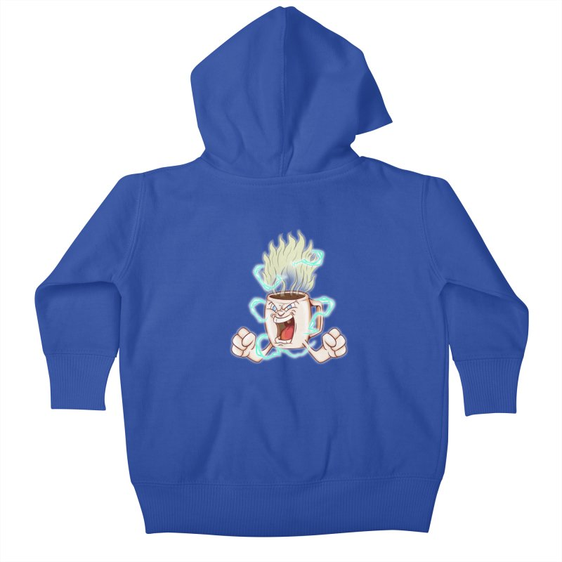Strongest Coffee in the Universe Kids Baby Zip-Up Hoody by The Last Tsunami's Artist Shop
