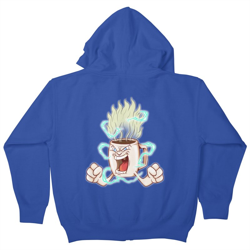 Strongest Coffee in the Universe Kids Zip-Up Hoody by The Last Tsunami's Artist Shop