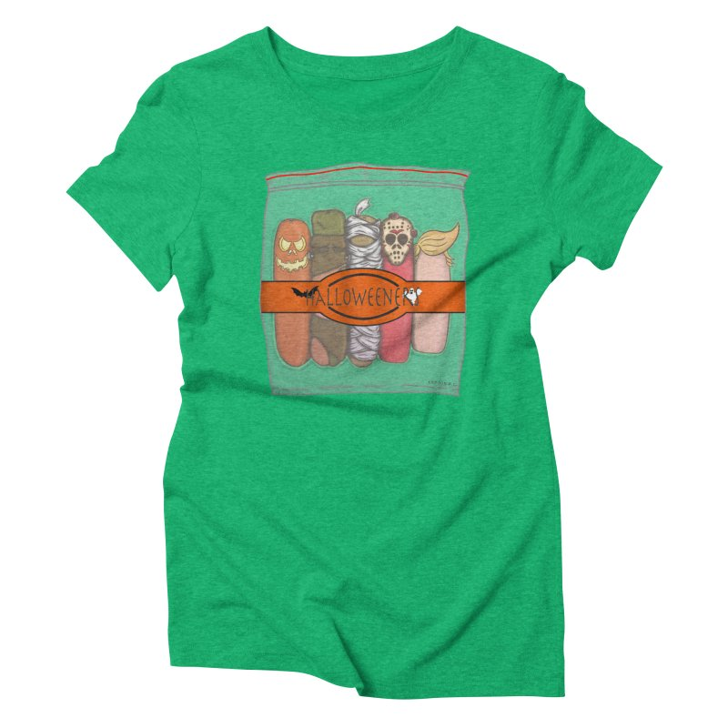 Halloweeners Women's Triblend T-shirt by The Last Tsunami's Artist Shop