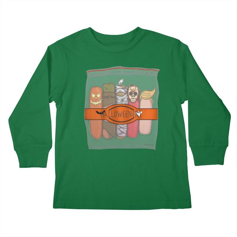 Halloweeners Kids Longsleeve T-Shirt by The Last Tsunami's Artist Shop