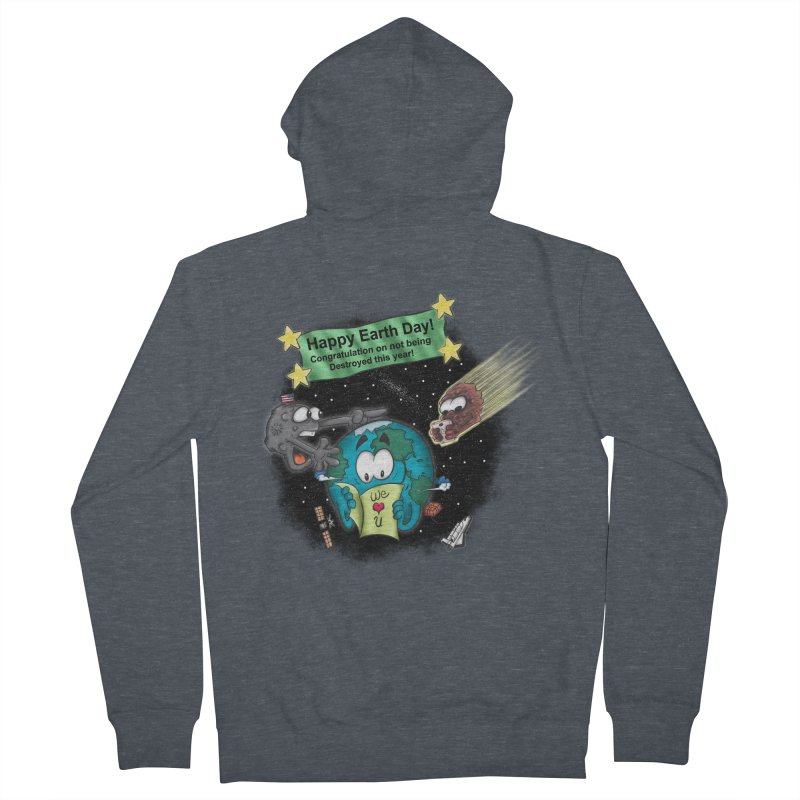 Earth Day Men's Zip-Up Hoody by The Last Tsunami's Artist Shop