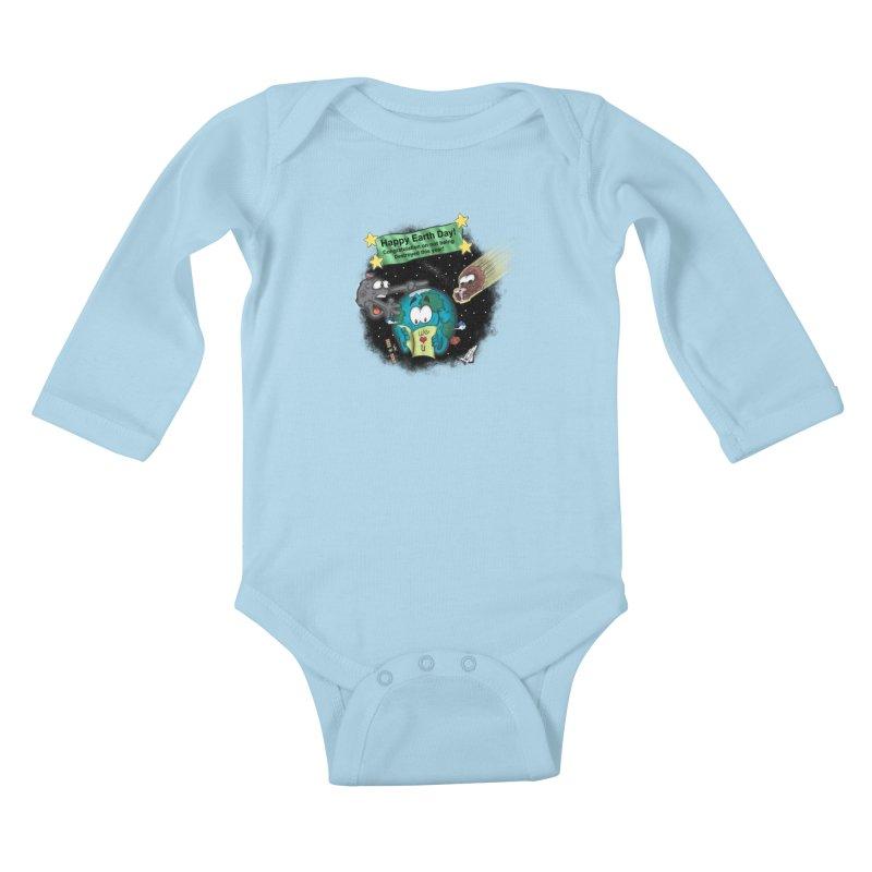 Earth Day Kids Baby Longsleeve Bodysuit by The Last Tsunami's Artist Shop