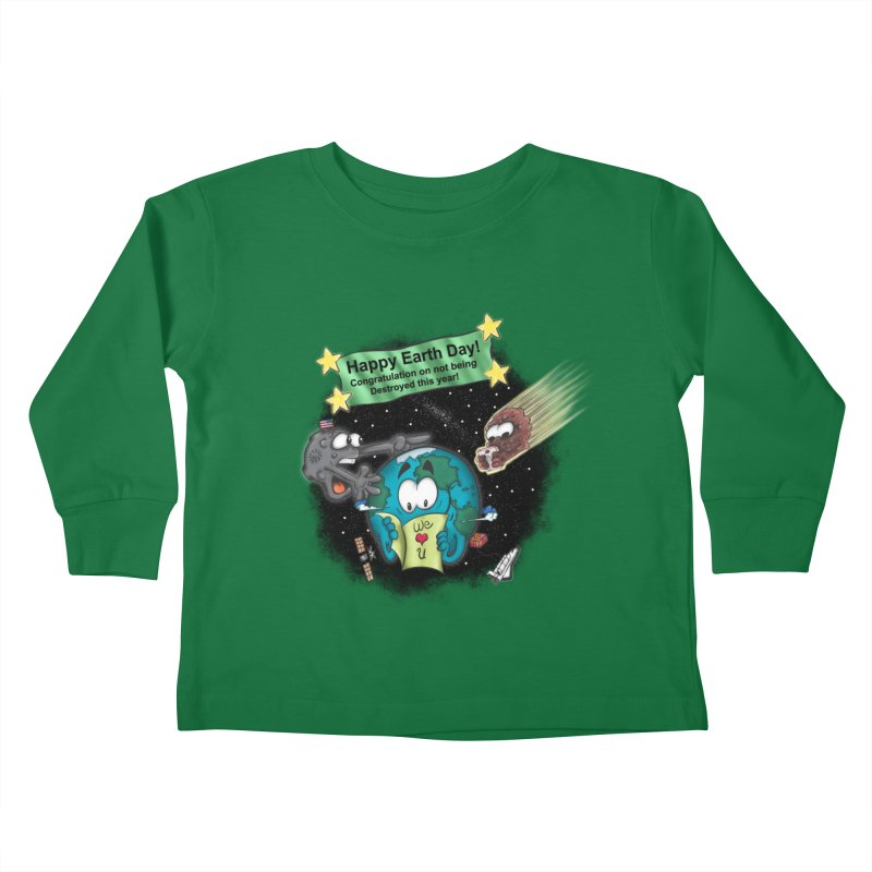 Earth Day Kids Toddler Longsleeve T-Shirt by The Last Tsunami's Artist Shop