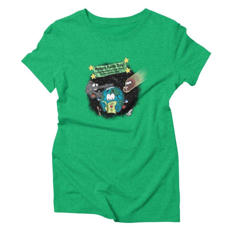 Earth Day Women's Triblend T-shirt by The Last Tsunami's Artist Shop