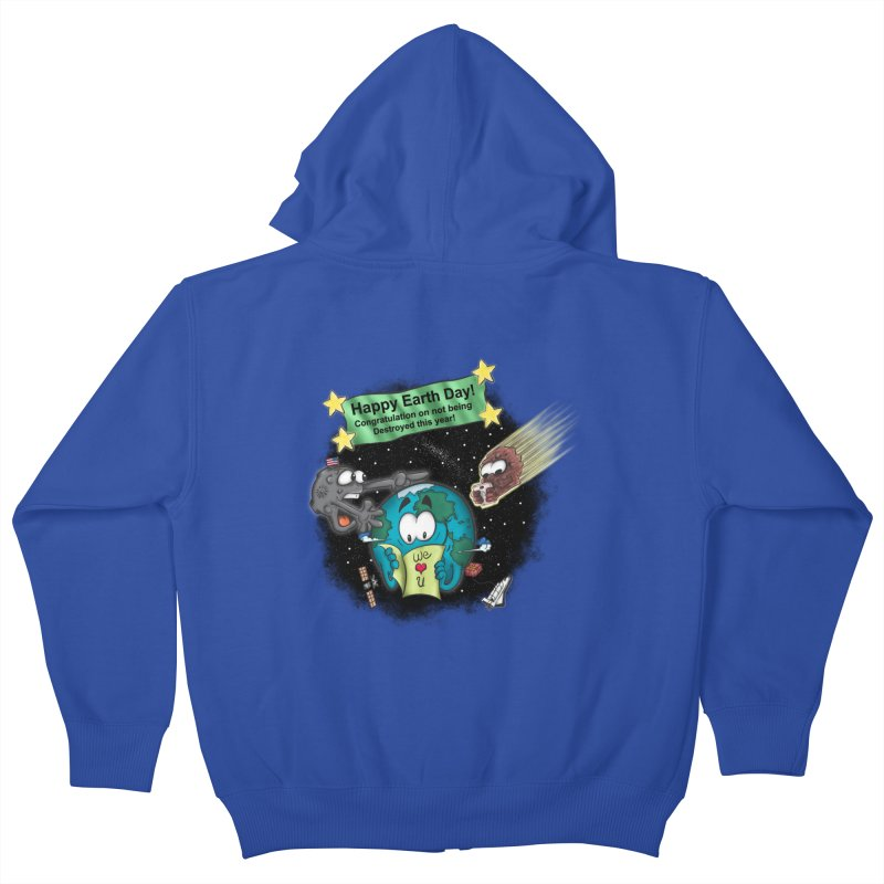 Earth Day Kids Zip-Up Hoody by The Last Tsunami's Artist Shop