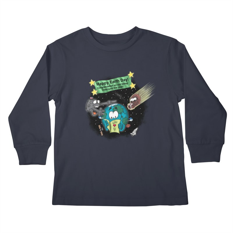 Earth Day Kids Longsleeve T-Shirt by The Last Tsunami's Artist Shop