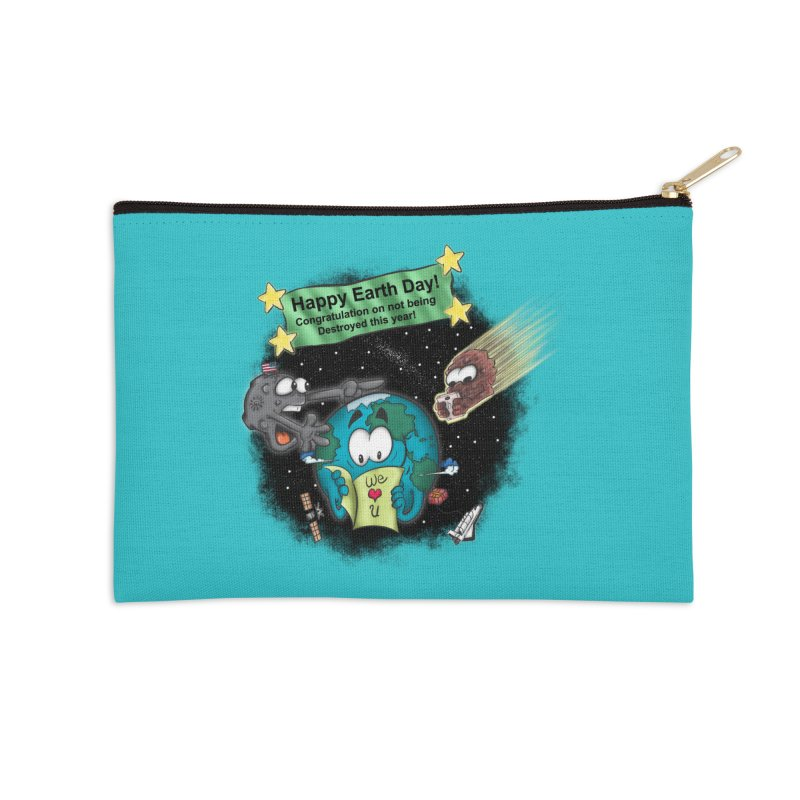 Earth Day Accessories Zip Pouch by The Last Tsunami's Artist Shop