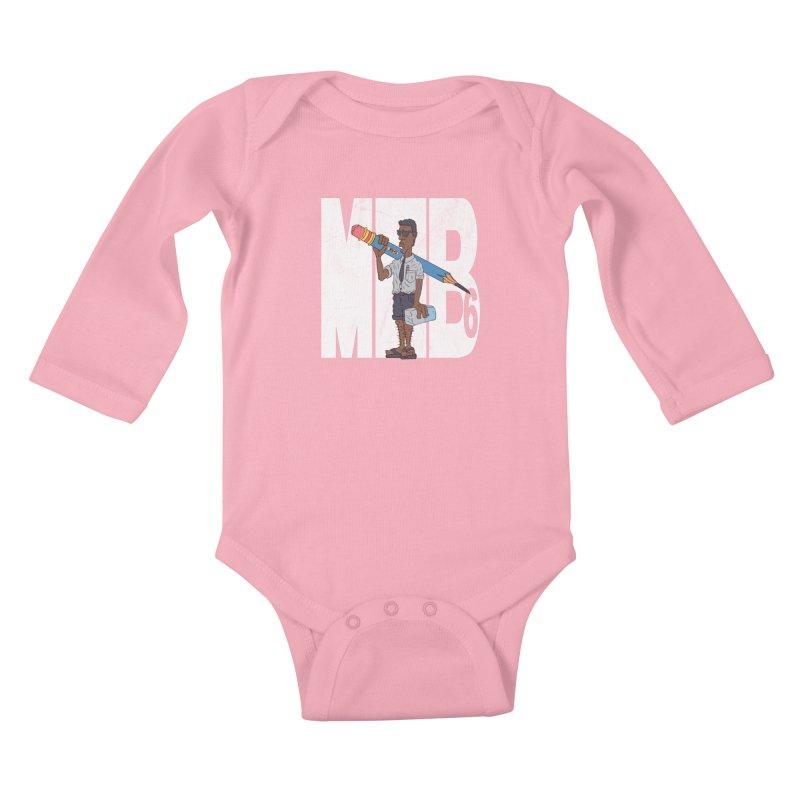 MIB6 Kids Baby Longsleeve Bodysuit by The Last Tsunami's Artist Shop