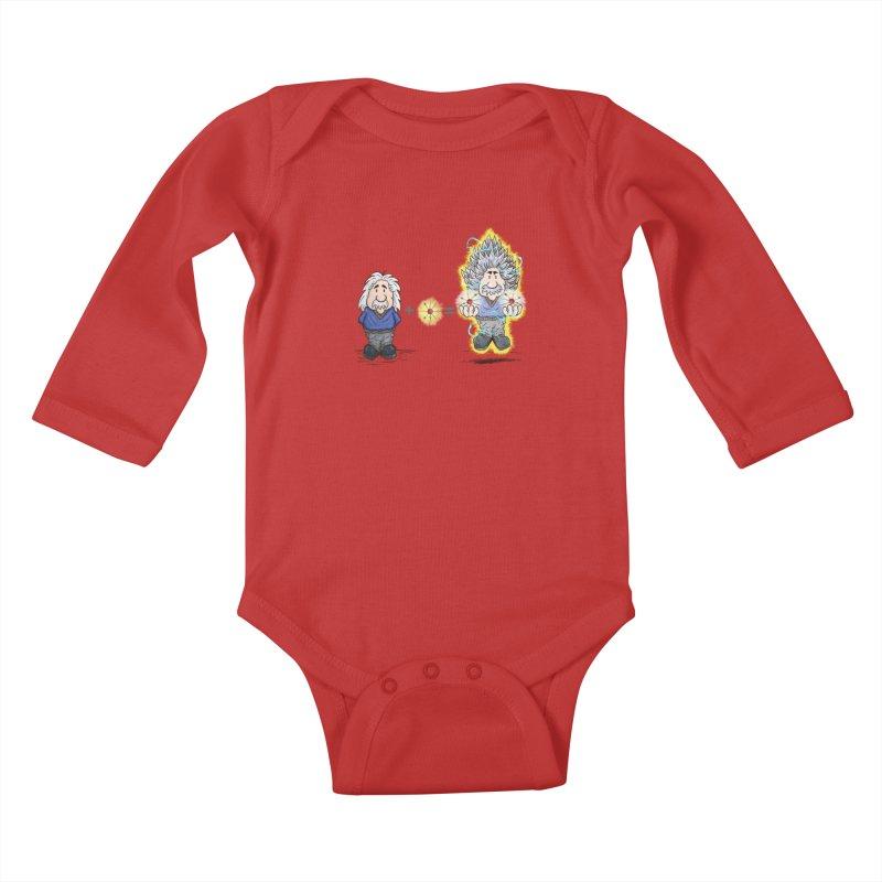 Super Saiyentist Kids Baby Longsleeve Bodysuit by The Last Tsunami's Artist Shop