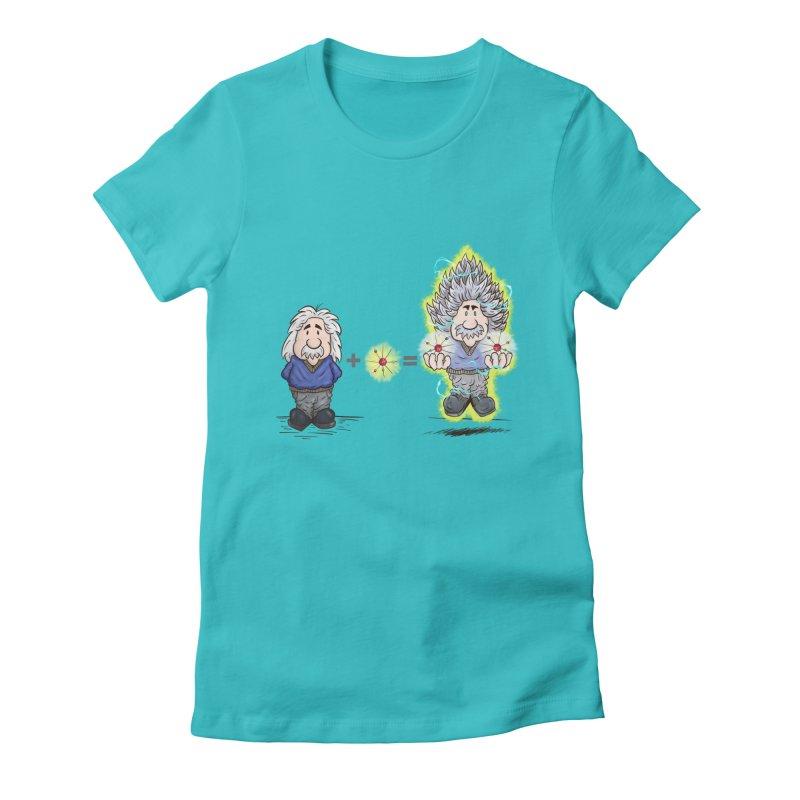 Super Saiyentist Women's Fitted T-Shirt by The Last Tsunami's Artist Shop