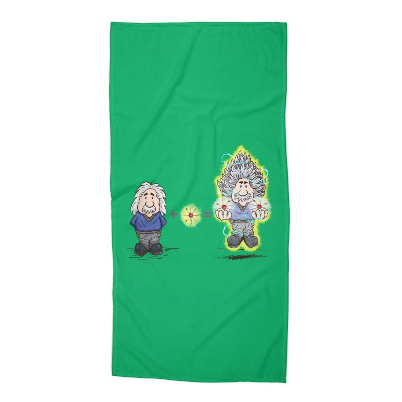 Super Saiyentist Accessories Beach Towel by The Last Tsunami's Artist Shop