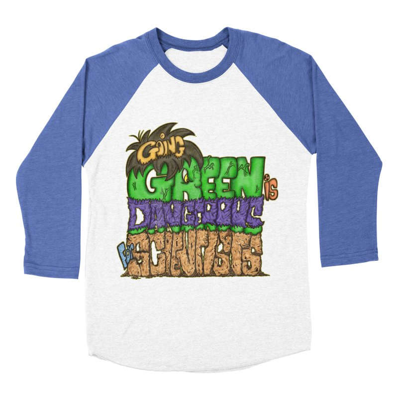 Going Green Women's Baseball Triblend T-Shirt by The Last Tsunami's Artist Shop