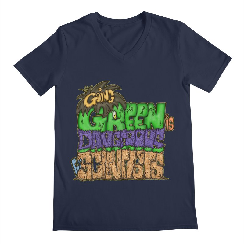 Going Green Men's V-Neck by The Last Tsunami's Artist Shop