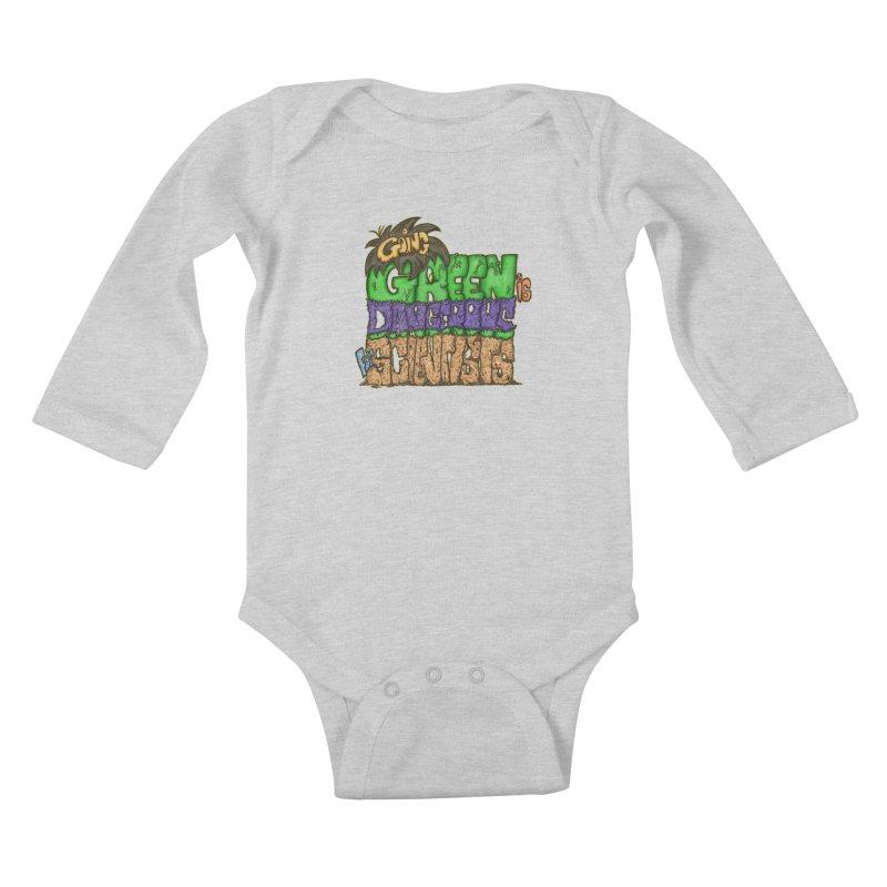 Going Green Kids Baby Longsleeve Bodysuit by The Last Tsunami's Artist Shop