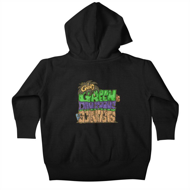Going Green Kids Baby Zip-Up Hoody by The Last Tsunami's Artist Shop