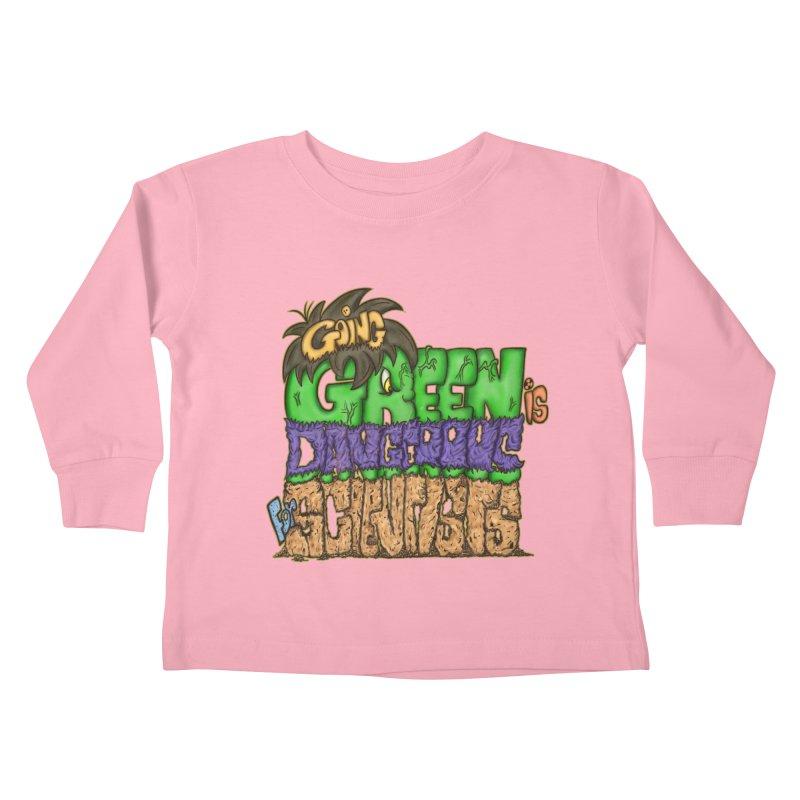 Going Green Kids Toddler Longsleeve T-Shirt by The Last Tsunami's Artist Shop