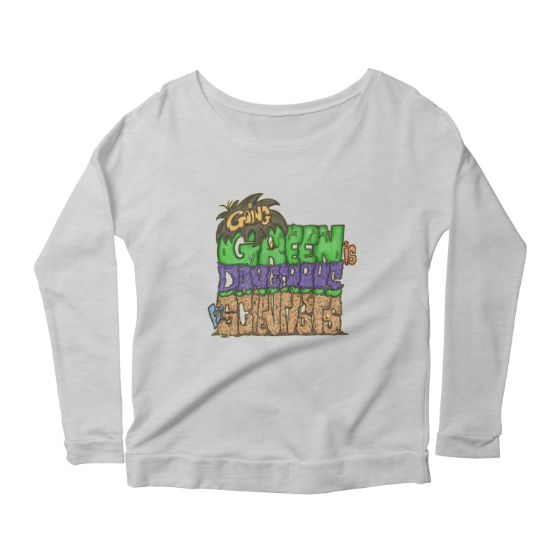Going Green Women's Longsleeve Scoopneck  by The Last Tsunami's Artist Shop