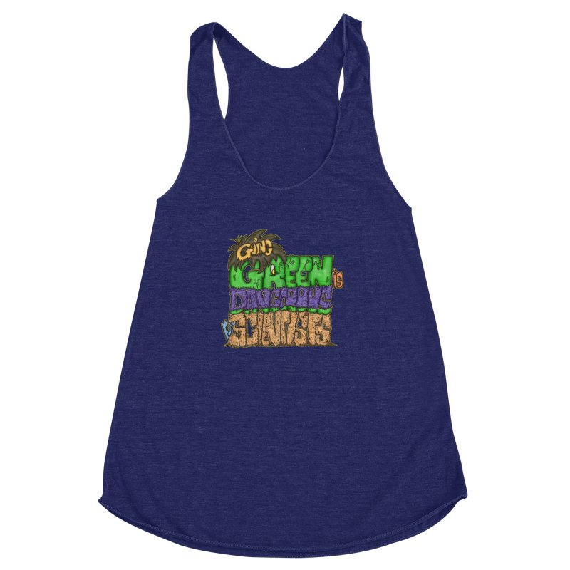 Going Green Women's Racerback Triblend Tank by The Last Tsunami's Artist Shop