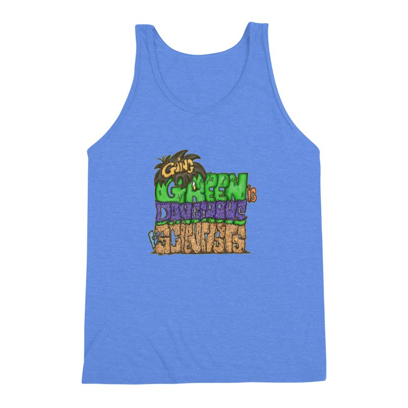 Going Green Men's Triblend Tank by The Last Tsunami's Artist Shop