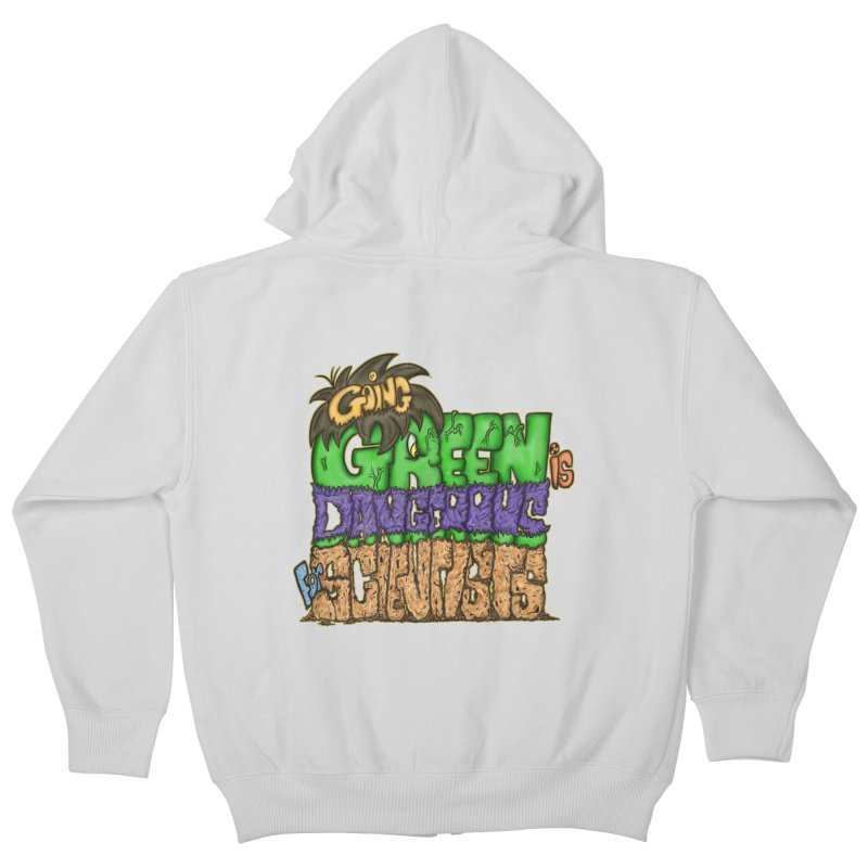 Going Green Kids Zip-Up Hoody by The Last Tsunami's Artist Shop