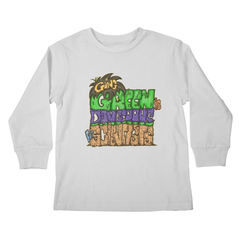 Going Green Kids Longsleeve T-Shirt by The Last Tsunami's Artist Shop