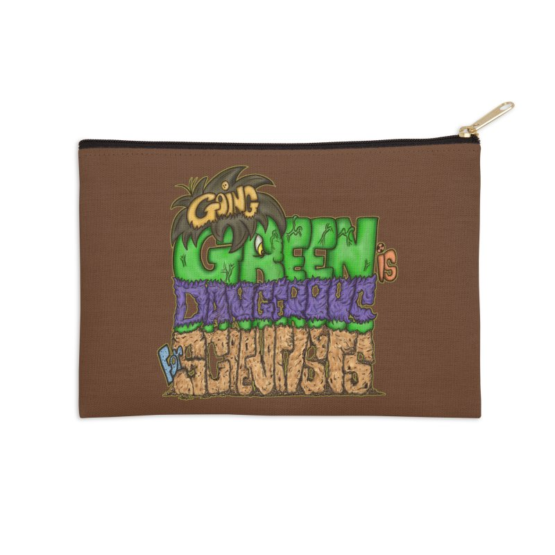 Going Green Accessories Zip Pouch by The Last Tsunami's Artist Shop