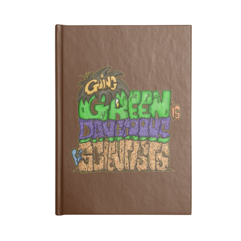 Going Green Accessories Blank Journal Notebook by The Last Tsunami's Artist Shop