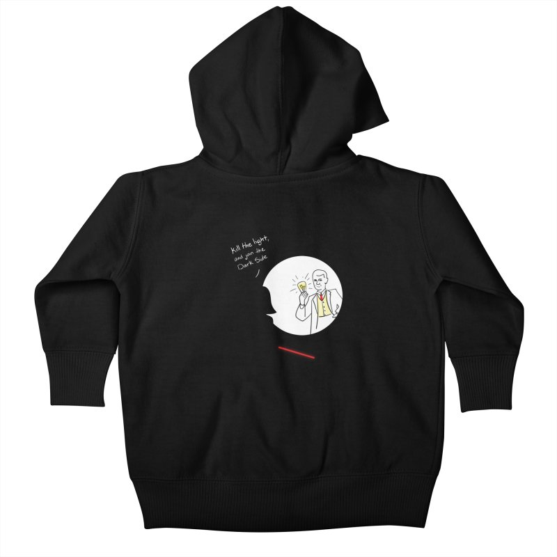 The Dark Side of the Room Kids Baby Zip-Up Hoody by The Last Tsunami's Artist Shop