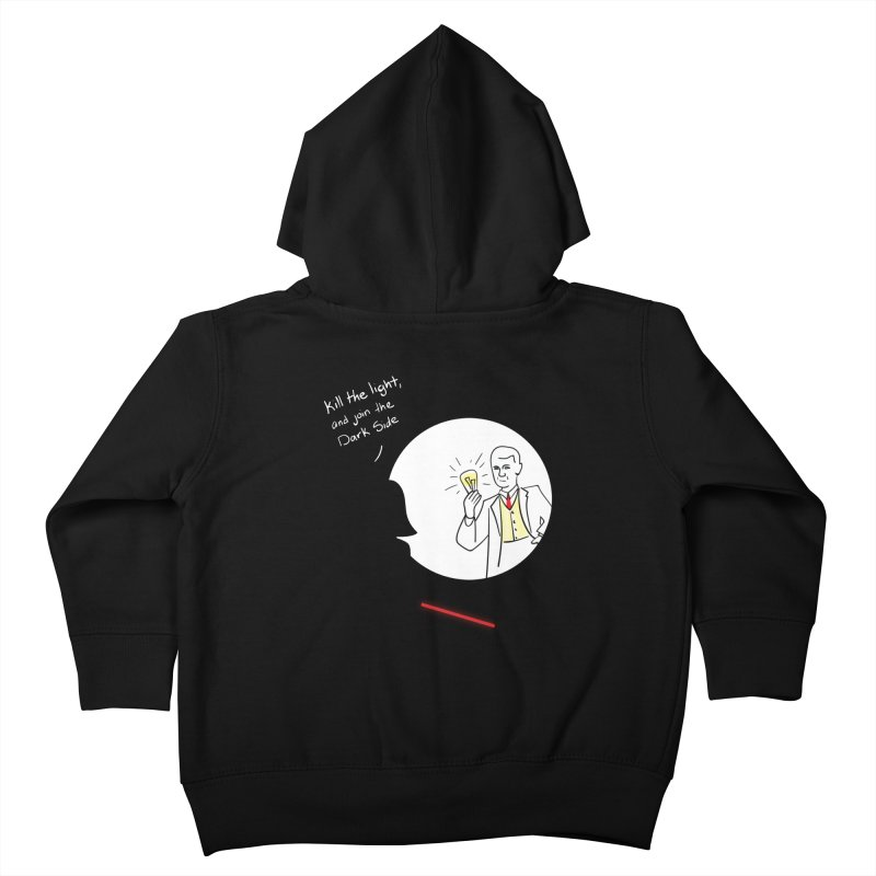 The Dark Side of the Room Kids Toddler Zip-Up Hoody by The Last Tsunami's Artist Shop
