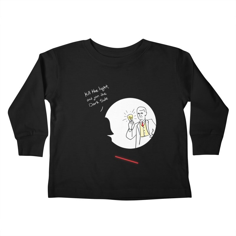 The Dark Side of the Room Kids Toddler Longsleeve T-Shirt by The Last Tsunami's Artist Shop