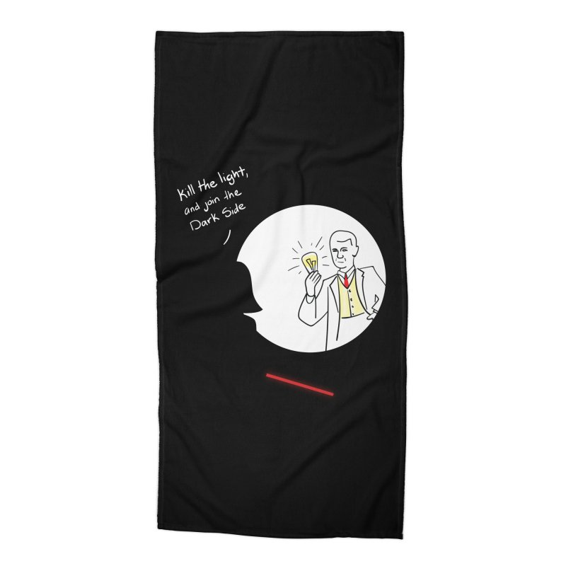 The Dark Side of the Room Accessories Beach Towel by The Last Tsunami's Artist Shop