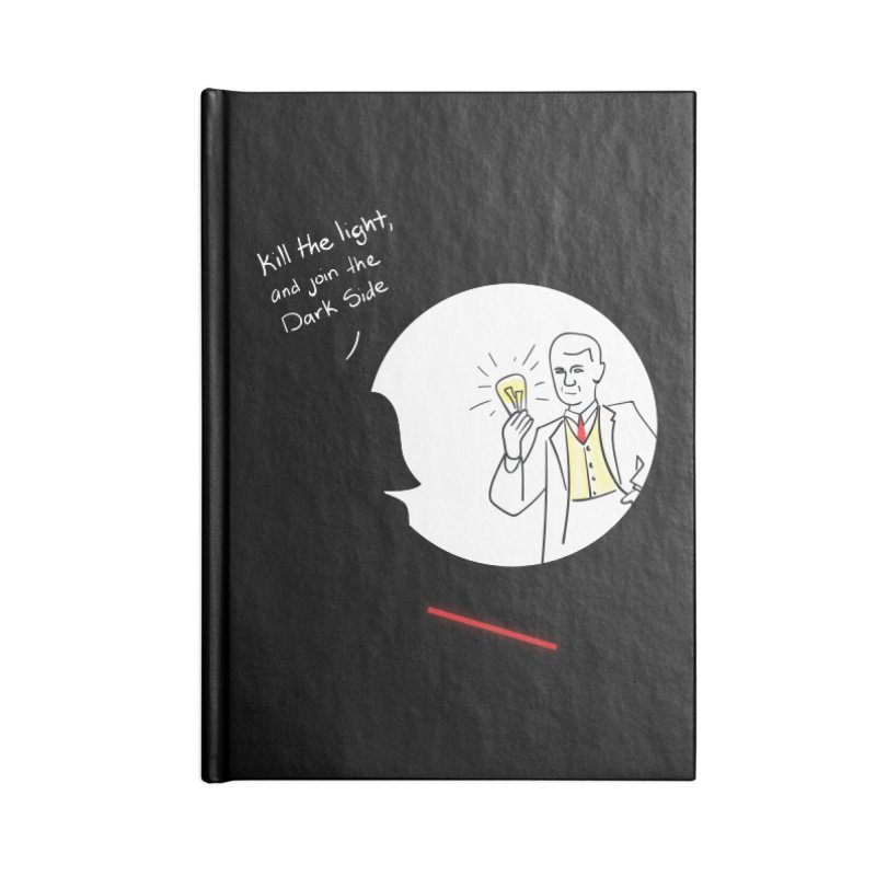 The Dark Side of the Room Accessories Blank Journal Notebook by The Last Tsunami's Artist Shop
