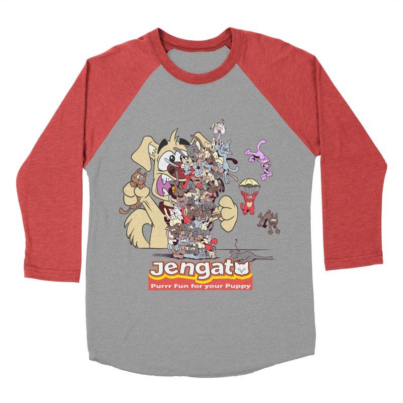 Jengato Women's Baseball Triblend T-Shirt by The Last Tsunami's Artist Shop