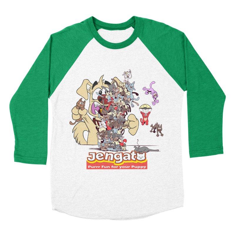 Jengato Men's Baseball Triblend T-Shirt by The Last Tsunami's Artist Shop