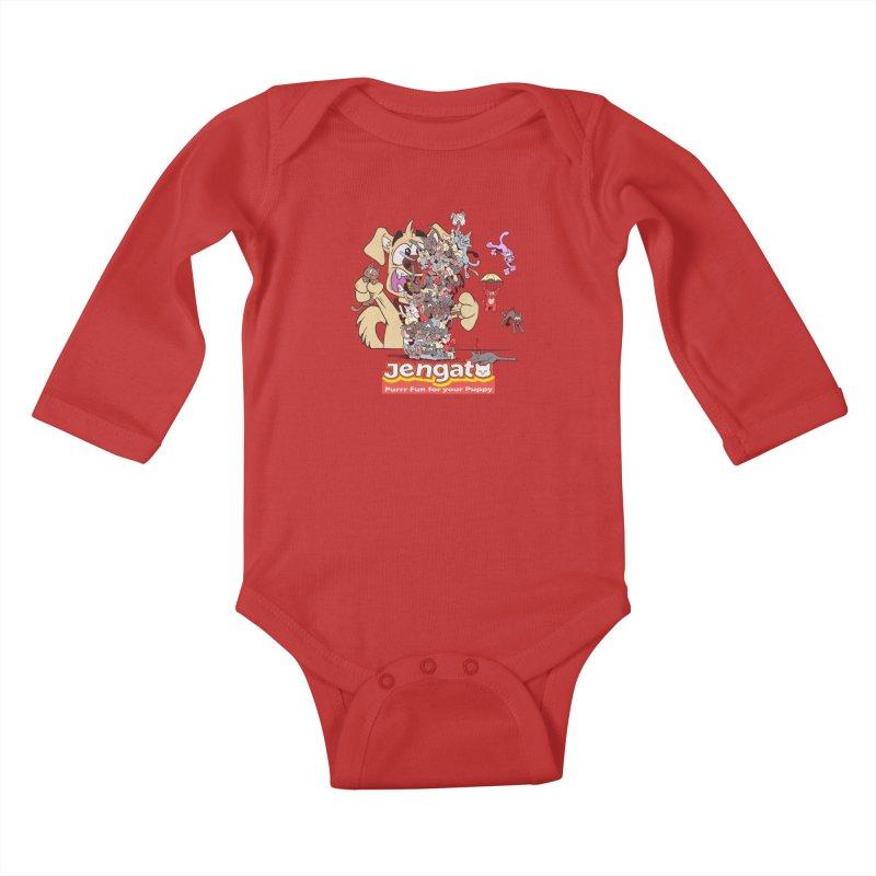 Jengato Kids Baby Longsleeve Bodysuit by The Last Tsunami's Artist Shop