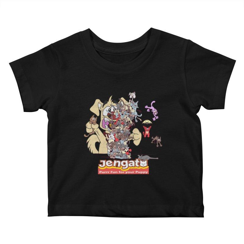 Jengato Kids Baby T-Shirt by The Last Tsunami's Artist Shop