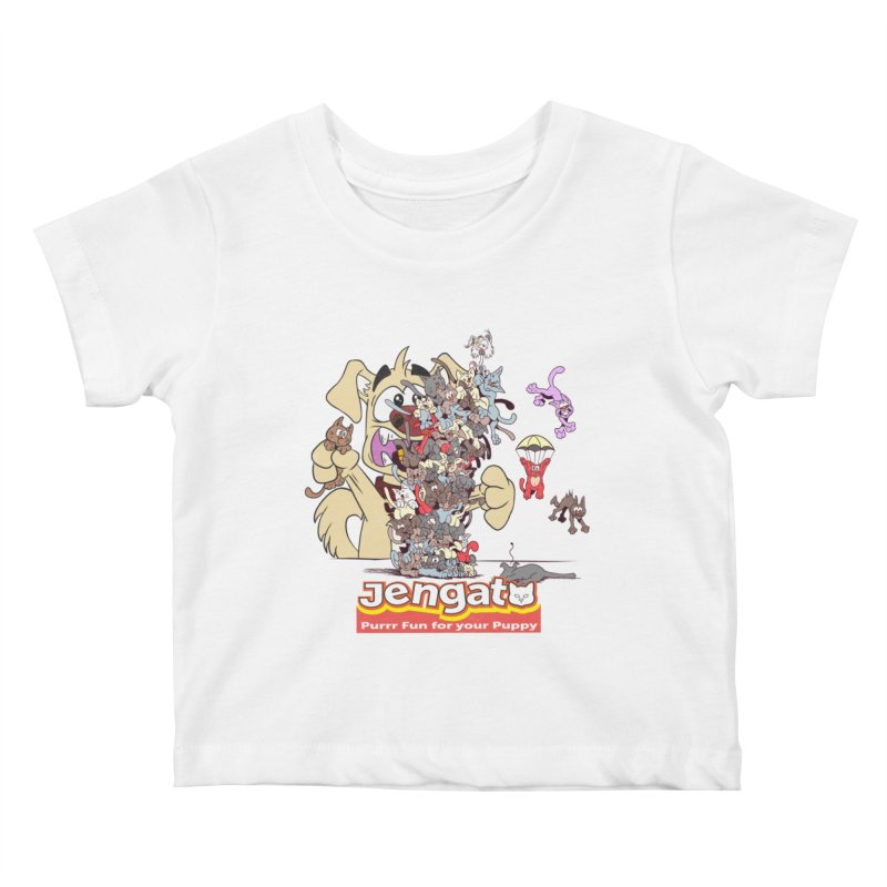 Jengato Kids Baby T-Shirt by The Last Tsunami's Artist Shop