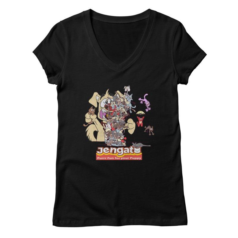 Jengato Women's V-Neck by The Last Tsunami's Artist Shop