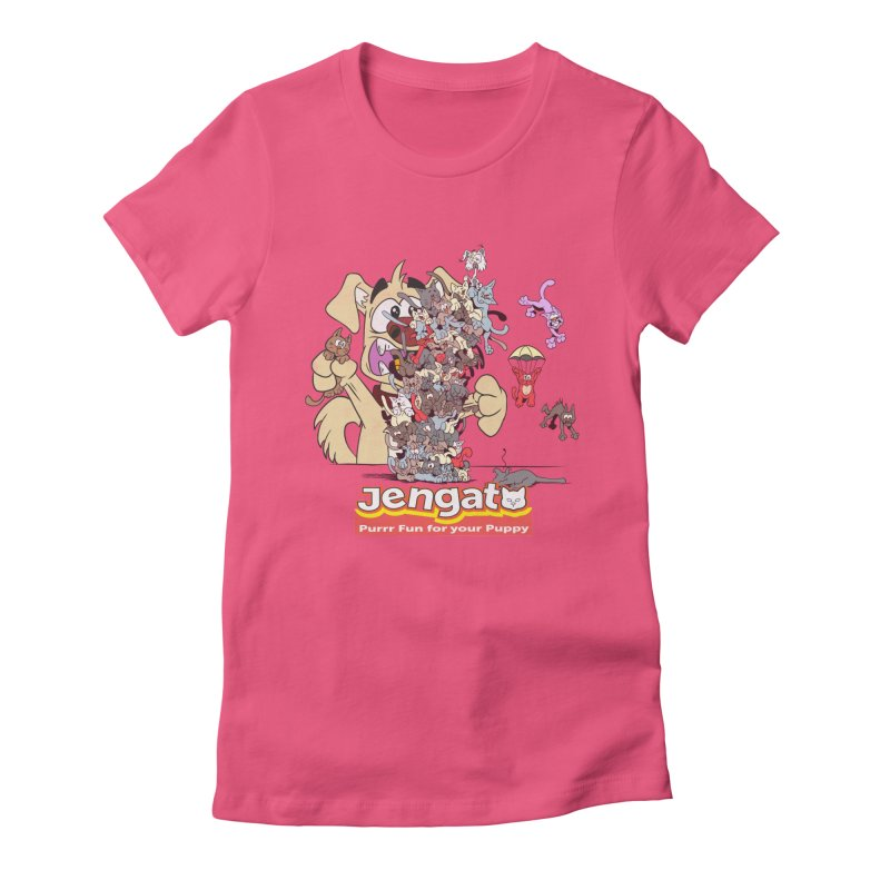 Jengato Women's Fitted T-Shirt by The Last Tsunami's Artist Shop