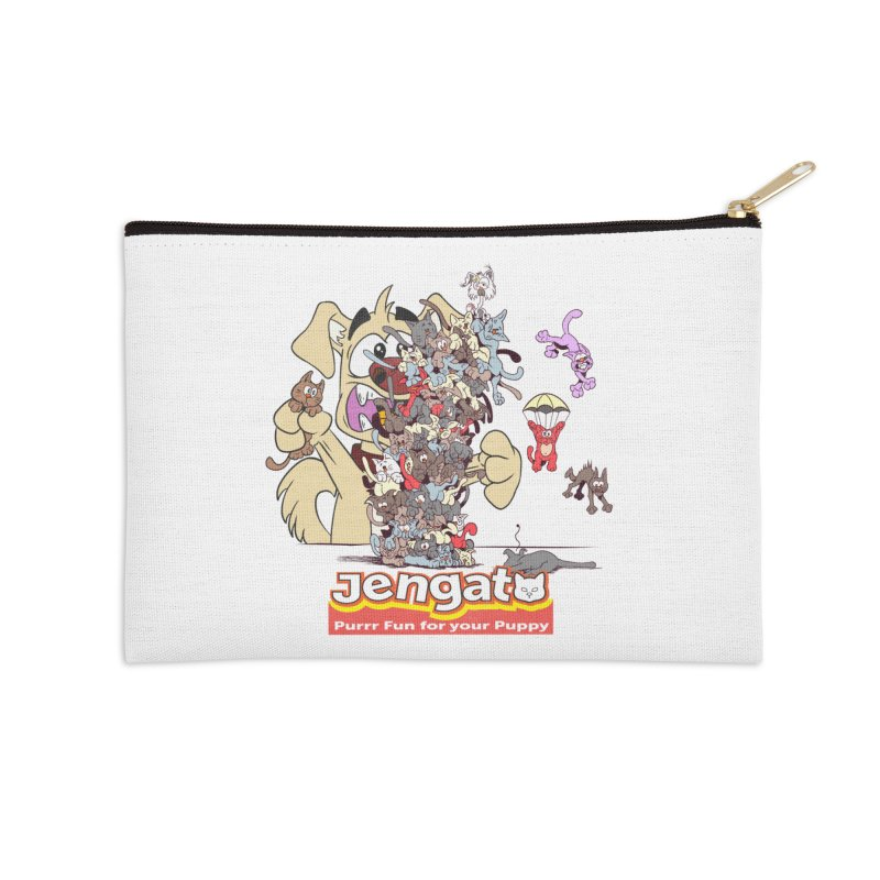 Jengato Accessories Zip Pouch by The Last Tsunami's Artist Shop