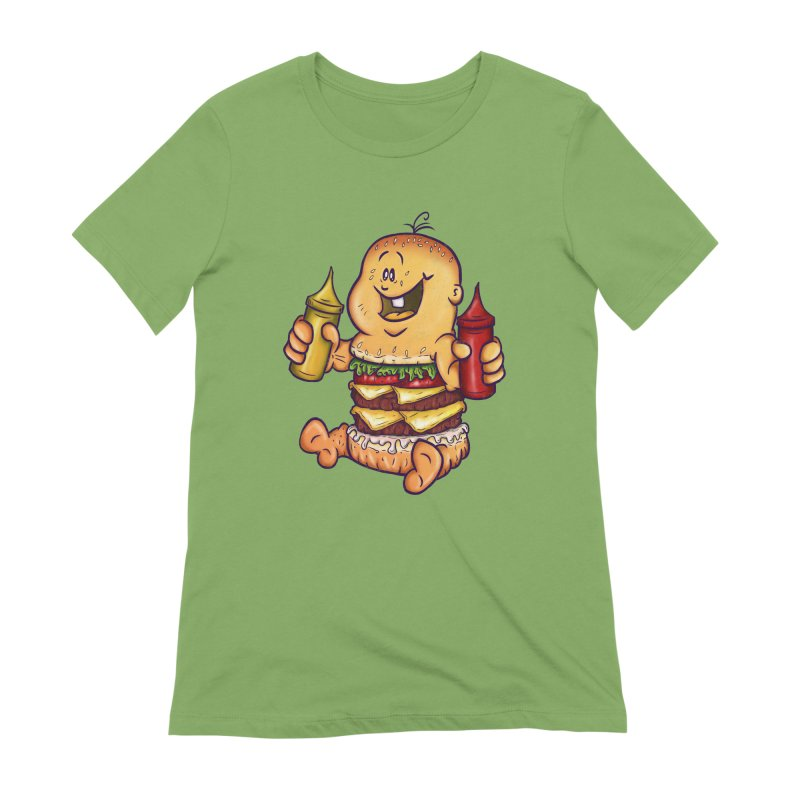 Baby Burger Women's Extra Soft T-Shirt by The Last Tsunami's Artist Shop