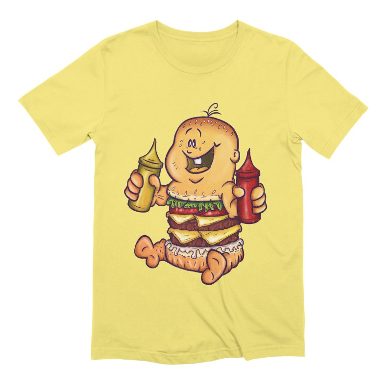 Baby Burger Men's Extra Soft T-Shirt by The Last Tsunami's Artist Shop