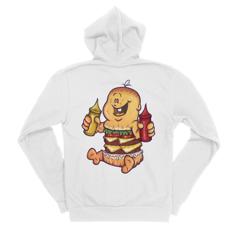 Baby Burger Women's Sponge Fleece Zip-Up Hoody by The Last Tsunami's Artist Shop