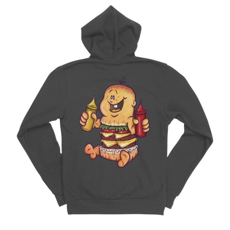 Baby Burger Men's Sponge Fleece Zip-Up Hoody by The Last Tsunami's Artist Shop