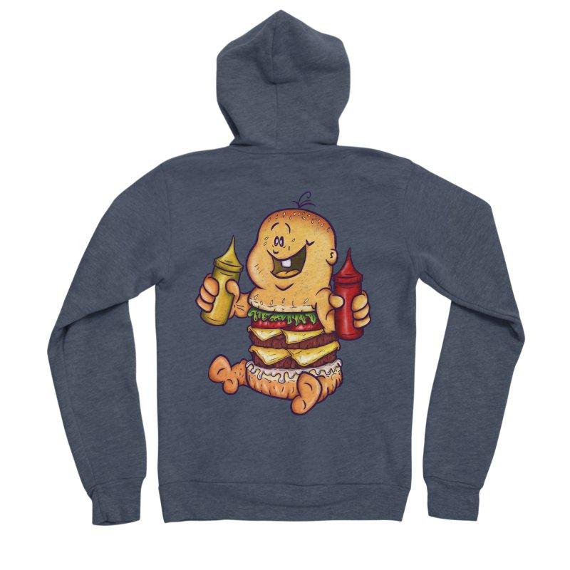Baby Burger Women's Sponge Fleece Zip-Up Hoody by The Last Tsunami's Artist Shop