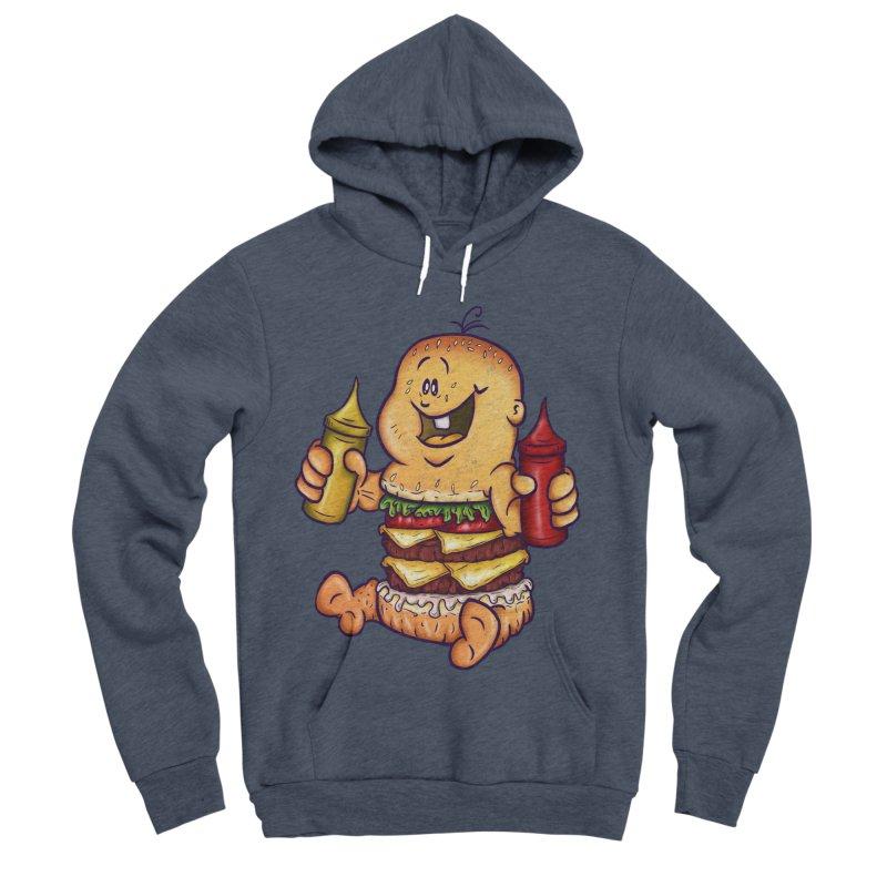 Baby Burger Men's Sponge Fleece Pullover Hoody by The Last Tsunami's Artist Shop