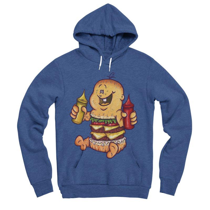 Baby Burger Women's Sponge Fleece Pullover Hoody by The Last Tsunami's Artist Shop