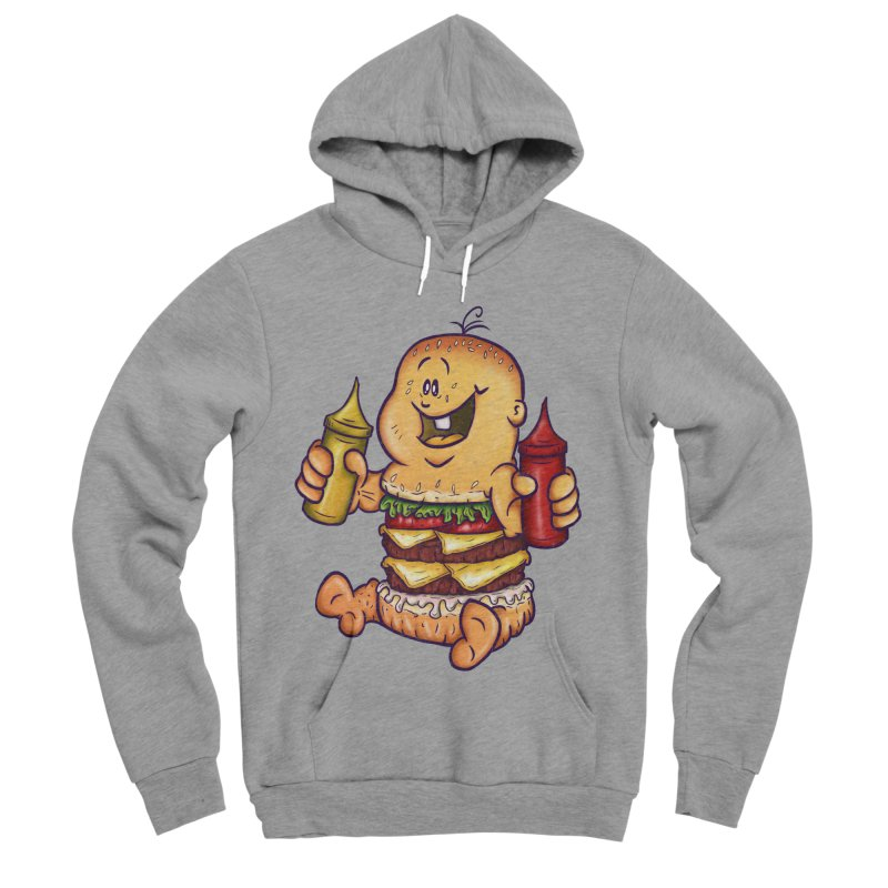 Baby Burger Men's Sponge Fleece Pullover Hoody by The Last Tsunami's Artist Shop