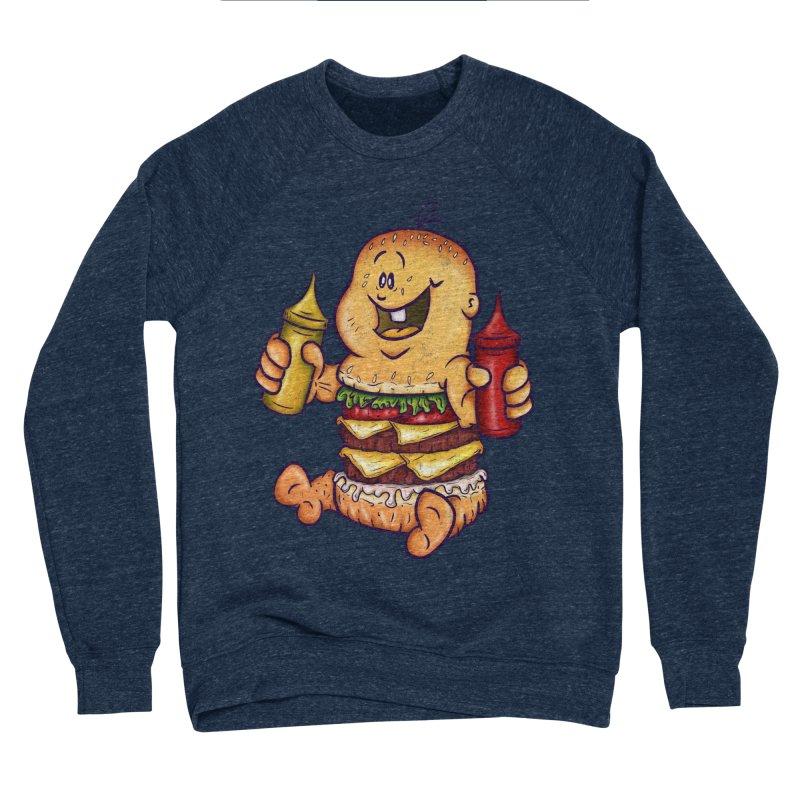 Baby Burger Men's Sponge Fleece Sweatshirt by The Last Tsunami's Artist Shop