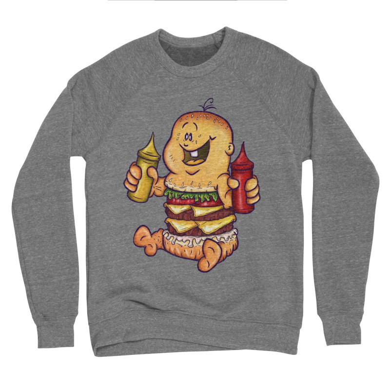 Baby Burger Women's Sponge Fleece Sweatshirt by The Last Tsunami's Artist Shop